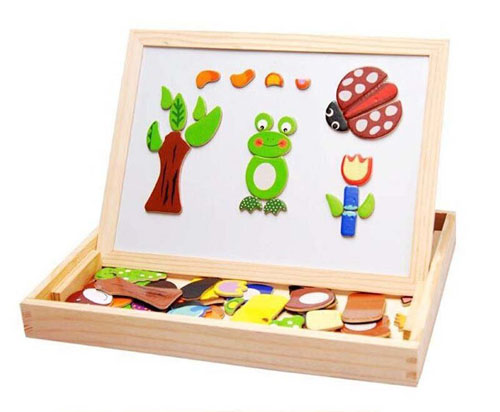 Bảng ghép hình bằng gỗ gắn nam châm