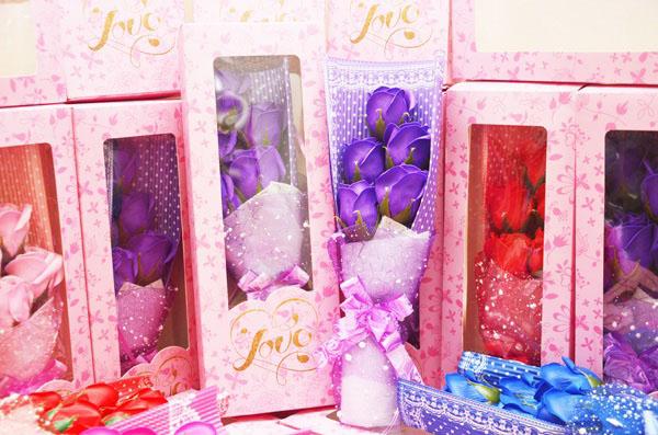 Hoa hồng sáp mẫu 5 bông