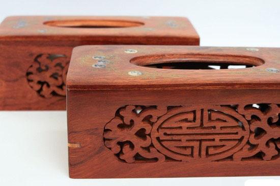 hộp đựng giấy ăn bằng gỗ sang trọng