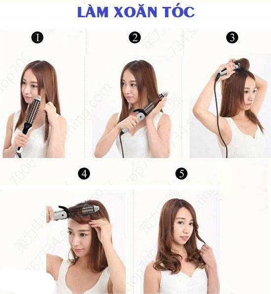 Cách tạo kiểu tóc bằng máy làm tóc Shinon SH-8097