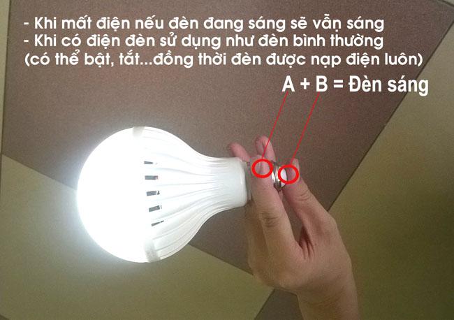 Bán buôn bóng đèn led tích điện Hòa An