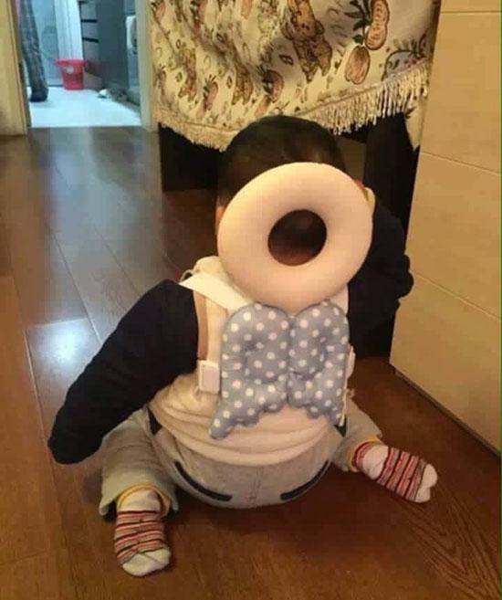 Đai gối tựa đầu an toàn cho bé