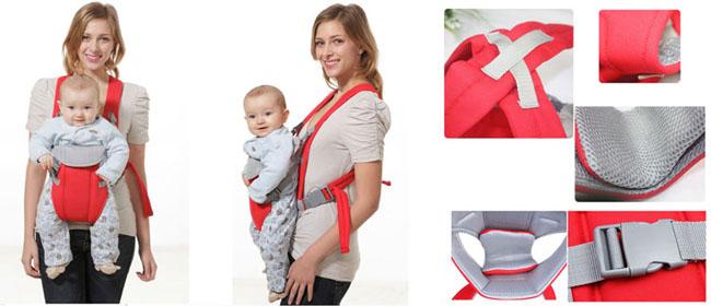 Địu em bé 4 tư thế baby carrier giá rẻ