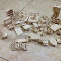 Mô hình nhà gỗ lắp ghép cho bé