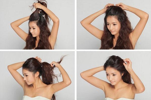 Bán sỉ đệm phồng tóc dạng gài Hàn Quốc