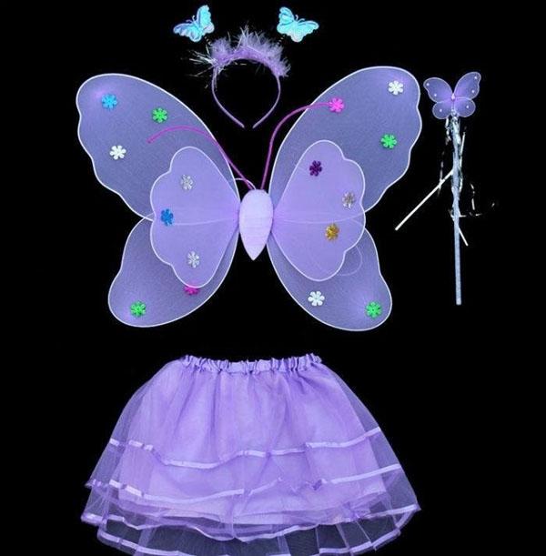 Bán sỉ bộ áo cánh bướm thiên thần cho bé