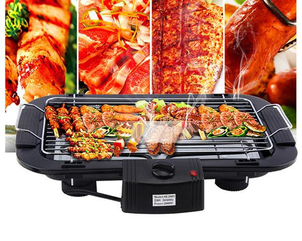 Bán buôn bếp nướng không khói Electric barbecue grill 2000w