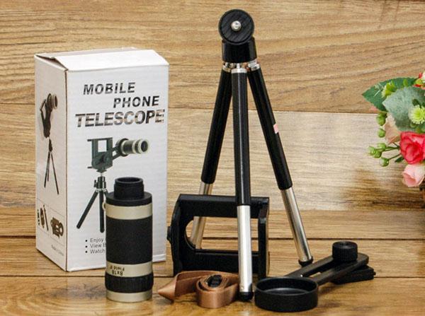 Bộ chân đế Tripod và Lens Tele zoom 8x cho điện thoại