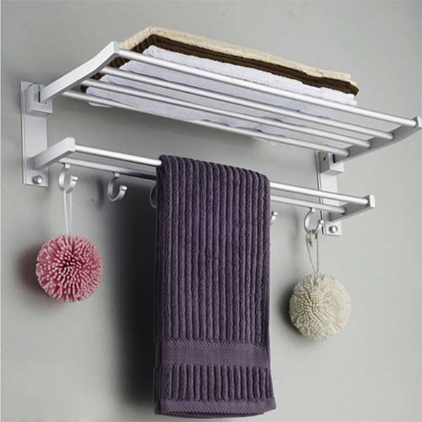 Giá treo khăn 2 tầng có móc treo
