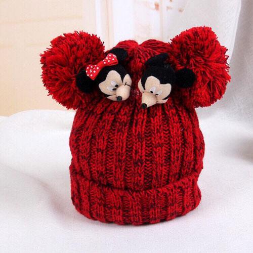 Mũ len chuột Mickey cho mẹ và bé