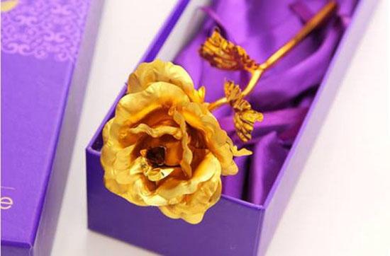 Bán buôn hoa hồng mạ vàng 24k