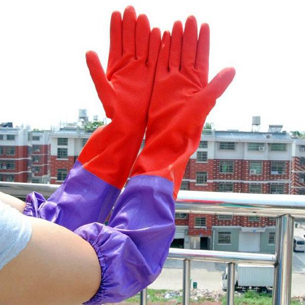 Bán sỉ găng tay cao su lót nỉ