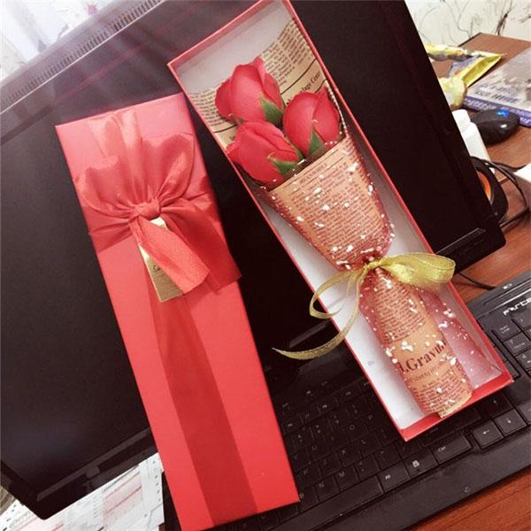 Bán buôn hoa hồng sáp thơm 3 bông