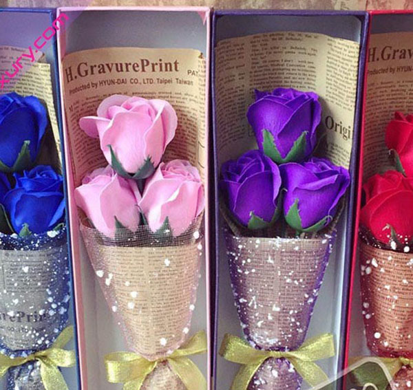 Hoa hồng sáp thơm 3 bông