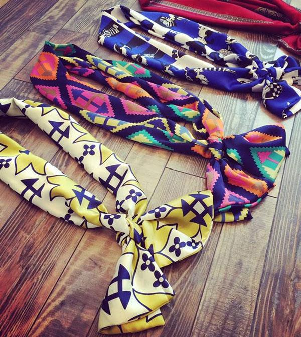Bán buôn khăn Turban hoa văn thổ cẩm đẹp