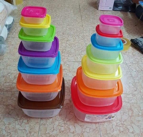 Bộ hộp nhựa đựng thức ăn 7 màu