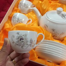 Bộ ấm chén trà ceramics Korea