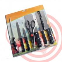 Bộ dao kéo làm bếp 8 món tiện dụng
