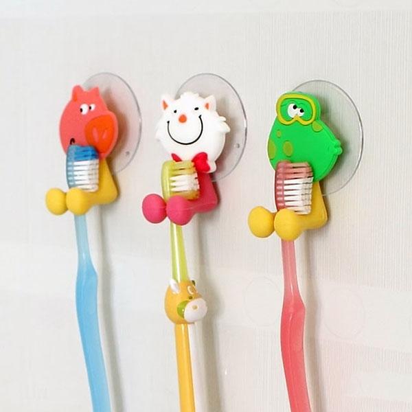 Dụng cụ kẹp bàn chải đánh răng hình thú