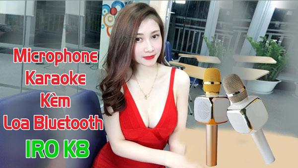 Micro karaoke kèm loa bluetooth K8