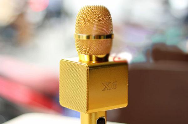 Micro kèm loa X6 mạ vàng chính hãng