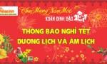 Thông báo nghỉ tết âm lịch Đinh Dậu 2017