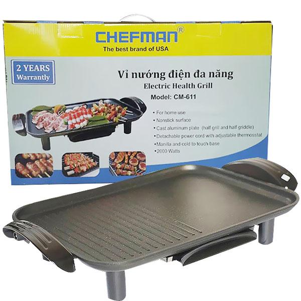 Vỉ nướng điện đa năng Chefman CM-611