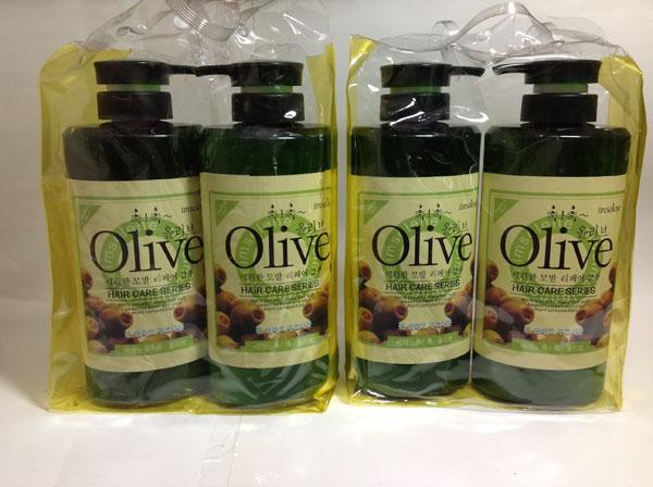 Bán sỉ bộ dầu gội và xả Olive 800ml Hàn Quốc
