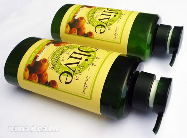 Bán buôn bộ dầu gội và xả Olive 800ml Hàn Quốc