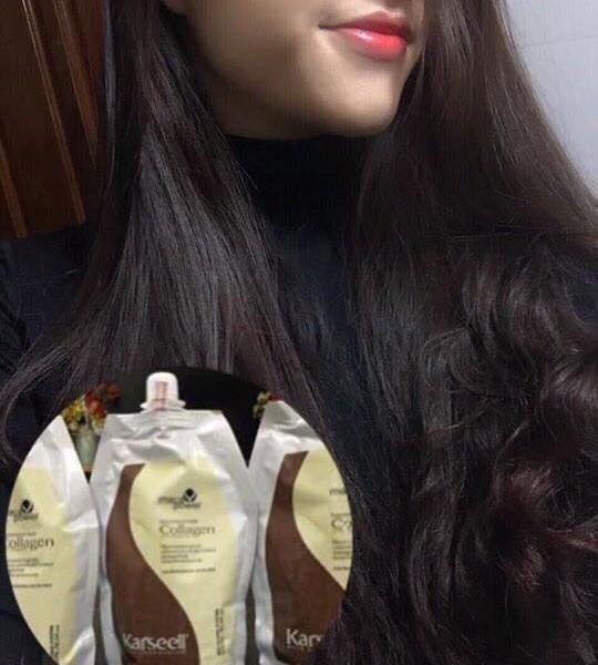 Kết quả hình ảnh cho ủ tóc collagen