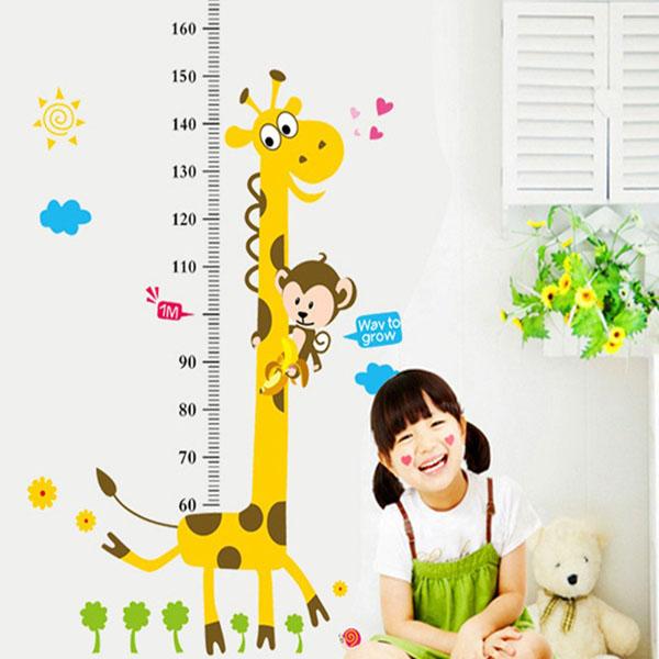 Decal dán tường thước đo chiều cao cho bé