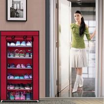Tủ vải để giày 6 tầng trơn tiện dụng