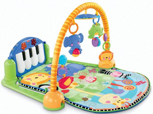 Bán buôn thảm nằm chơi đàn Piano Fisher Price cho bé