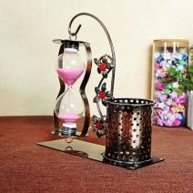 Đồng hồ cát hộp bút kim loại phong cách cổ điển