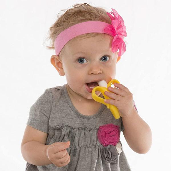 Dụng cụ gặm nướu 2 trong 1 Baby Banana - Mỹ