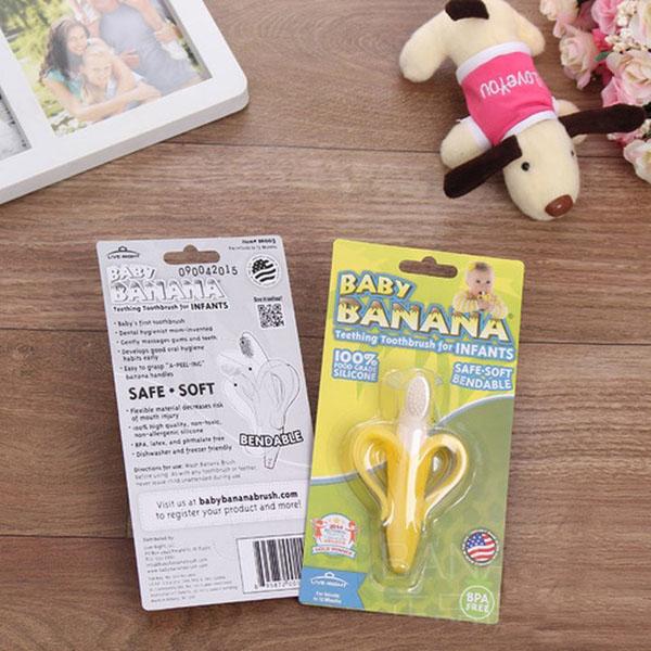 Bán sỉ dụng cụ gặm nướu Baby Banana - Mỹ