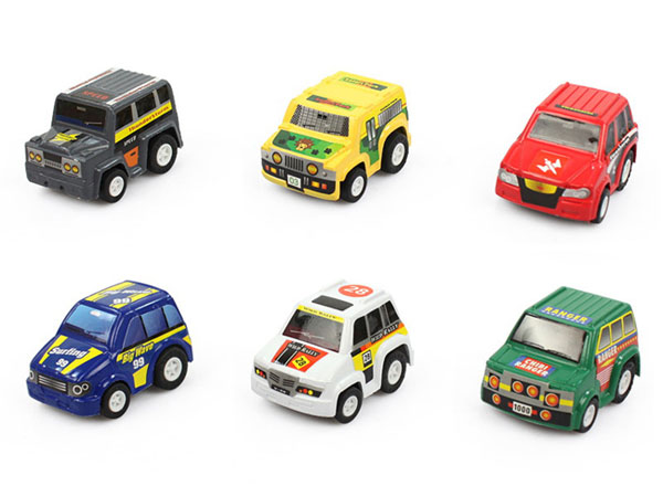 Túi 6 ô tô đồ chơi mini cho bé
