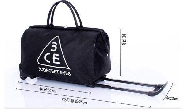Bán buôn túi kéo du lịch 3CE cao cấp
