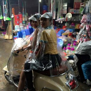 Áo mưa đôi trong suốt nhựa vi sinh