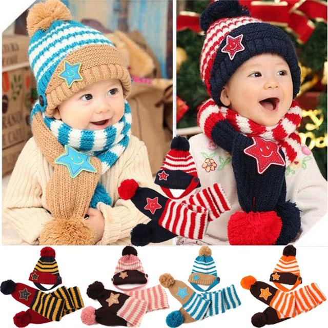 mũ khăn len cho bé