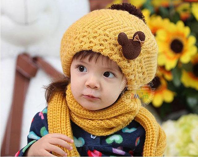 bộ khăn mũ len cho bé giá rẻ