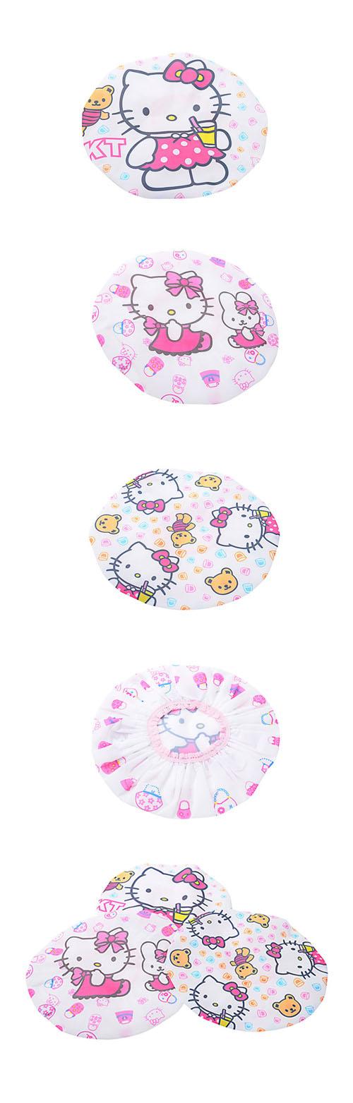 Mũ tắm chùm tóc Hello Kitty
