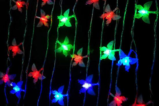 Đèn led trang trí hình hoa mai