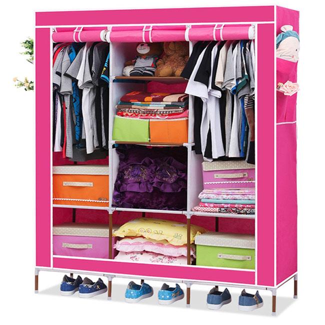 Tủ vải cao cấp 3 buồng 8 ngăn giá rẻ