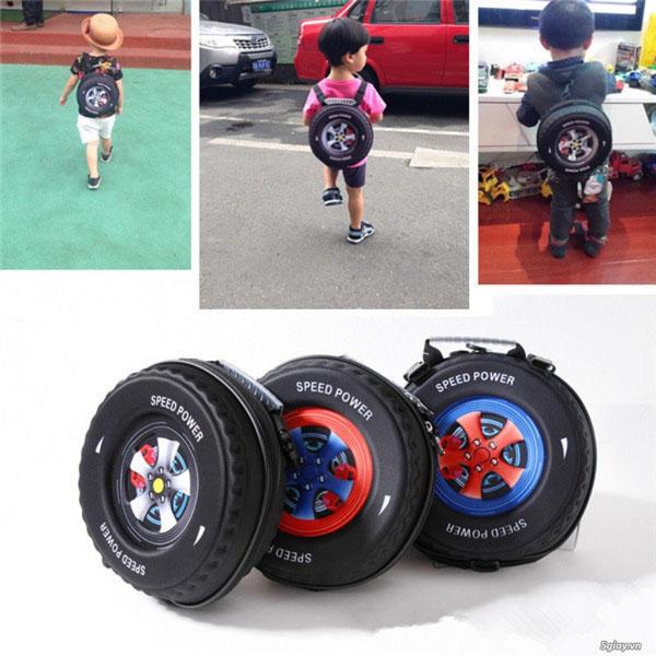 Bán buôn balo hình bánh xe cho bé