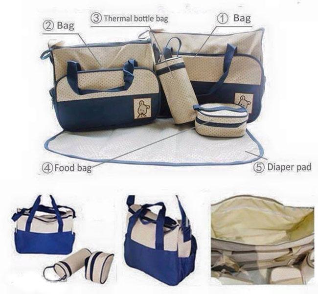 Bán buôn bộ 5 túi đựng chi tiết dành cho mẹ và bé