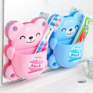 Dụng cụ để bàn chải đánh răng hình chú gấu