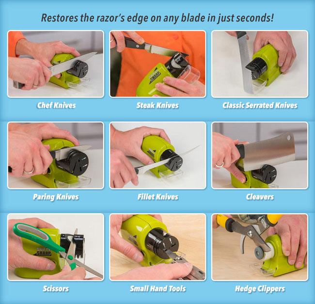 Cách sử dụng máy mài dao Swifty Sharp