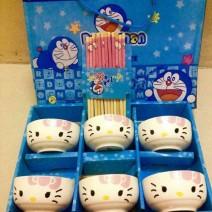 Bộ 6 bát đũa Hello Kitty xuất Nhật