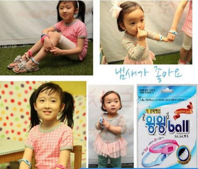 Vòng tinh dầu chống muỗi Mosball Hàn Quốc cho bé